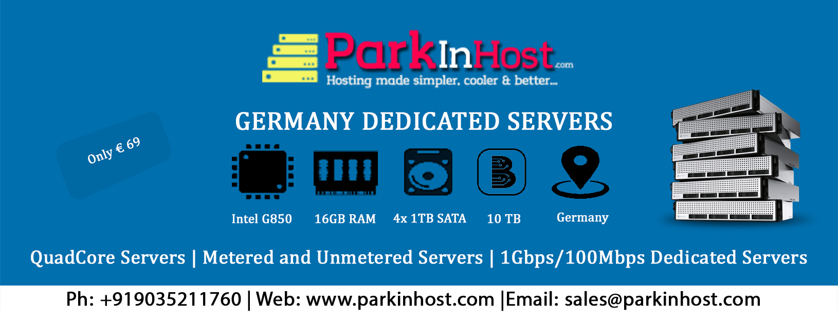 Unmetered Germany Dedicated Servers Parkinhost